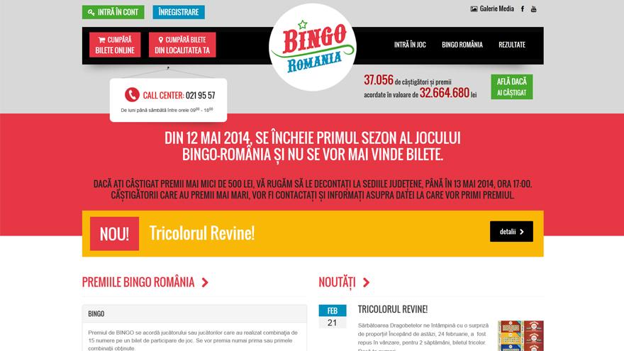 Bingo România - Website